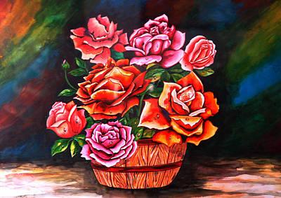 Flower Pot Art Print by Johnson Moya