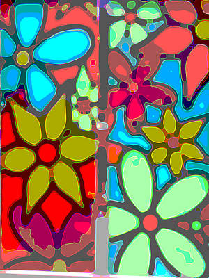 Recently Sold - Surrealism Digital Art Rights Managed Images - Flower Power Royalty-Free Image by Jimi Bush