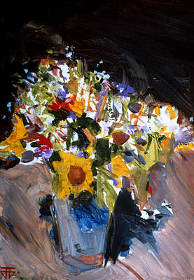 Painting - Flower Vase by John Jr Gholson