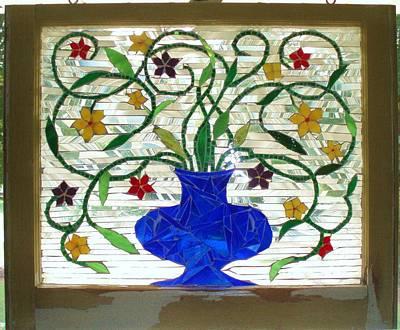 Glass Art - Flower Vase by Liz Lowder