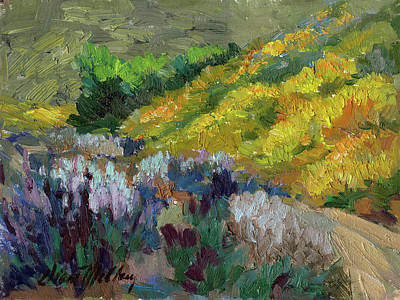 Lupine Painting - Flowering Meadow by Diane McClary