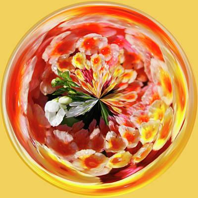 Flowering Orb Art Print by Sandi Blood