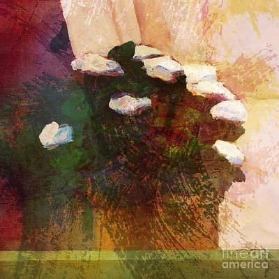 Graphic Digital Art Painting - Flowerpot Window by Lutz Baar