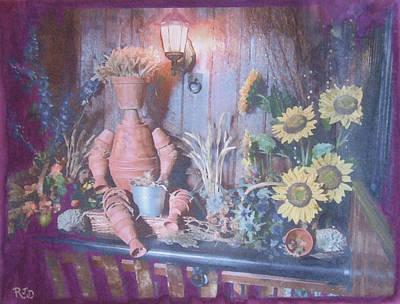 Art Print featuring the painting Flowerpotman by Richard James Digance