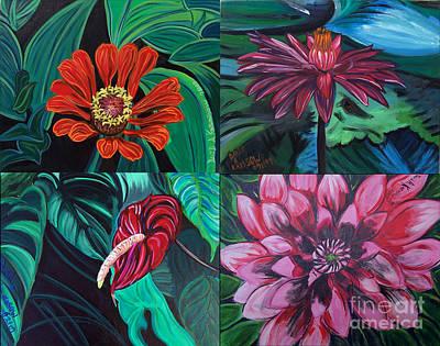 Painting - Flowers 4 by David Karasow