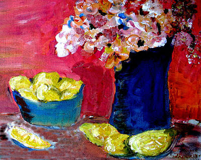 Painting - Flowers And Fruit by Patricia Januszkiewicz