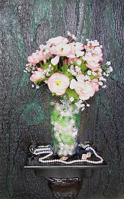 Flowers And Vase Art Print by Angela Stout