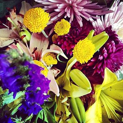 Bouquet Photograph - Flowers Fit For A #grad, Congrats by Kelly Diamond