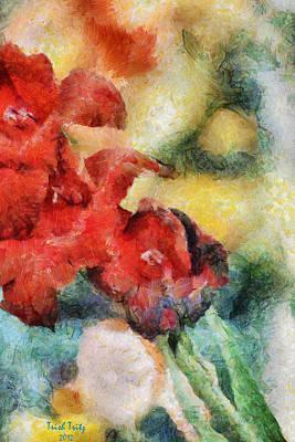 Flowers For Cynthia Art Print by Trish Tritz