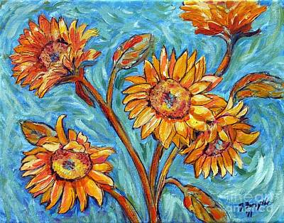 Painting - Flowers For Van Gogh by Jeanne Forsythe