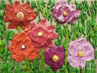 Plasticine Photograph - Flowers by Igor Kislev