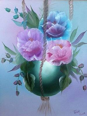 Painting - Flowers In A Pot by Jan Fink