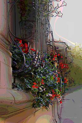 Flowers In A Window Box Art Print