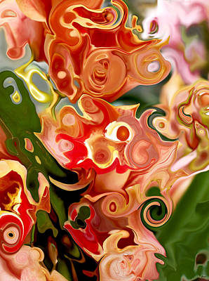 Flowers In Abstraction Art Print