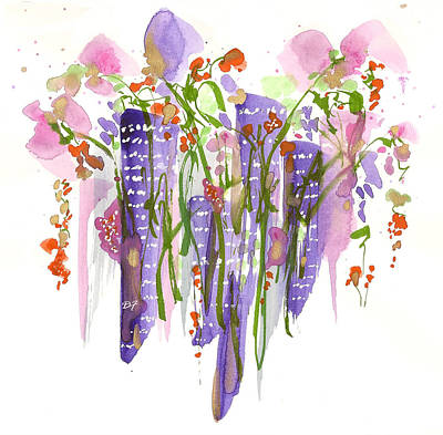 Drawing - Flowers In The City by Darlene Flood