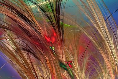 Digital Art - Flowers In The Grass by David Lane