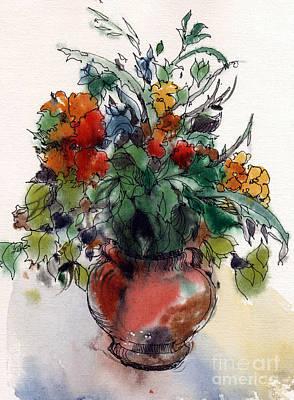 Watercolor Painting - Flowers. by Natalia Eremeyeva Duarte