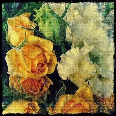 Bouquet Wall Art - Photograph - Flowers On Canvas by Odarka Shevchenko