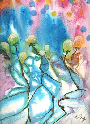 Flowers On Ice Art Print