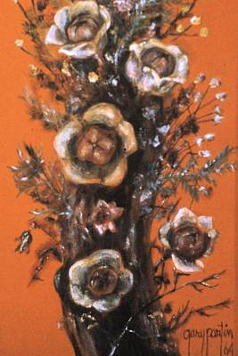 Painting - Flowers On Tree 1964 by Gary Partin