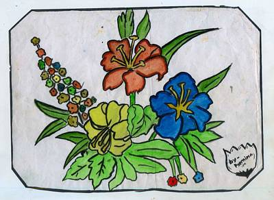 Painting - Flowers by Poornima M