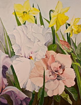 Painting - Flowers-posthumously Presented Paintings Of Sachi Spohn  by Cliff Spohn