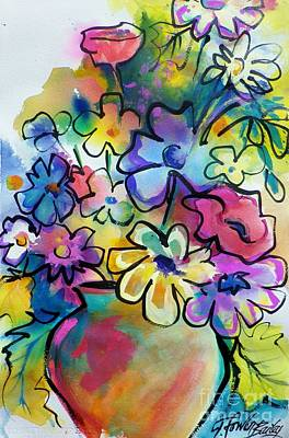 Painting - Flowers That Pop Art by Therese Fowler-Bailey
