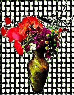 Multiple Personalities Digital Art - Flowers Vase by Saira Nafees