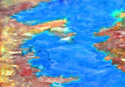 Oshun Wall Art - Painting - Flowing Stream by Duwayne Washington