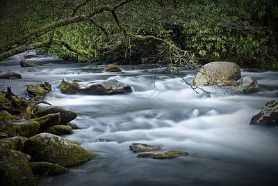 Current River Photograph - Flowing Stream In The Smokey Mountains No.312 by Randall Nyhof
