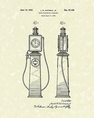 Fluid Dispenser 1932 Patent Art Art Print