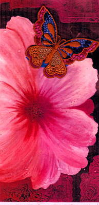 Flutter By The Flower  Art Print by Anne-Elizabeth Whiteway