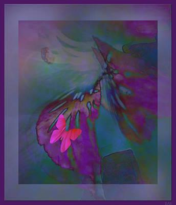 Flutter Of The Butterfly Art Print by Debra     Vatalaro