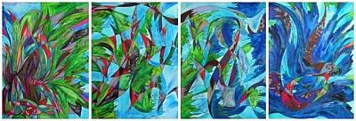 Fluttering Art Print by Christine Bonnie Ghattas