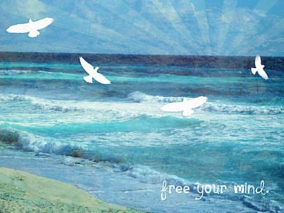 Depression Mixed Media - Fly Away by Tia Helen
