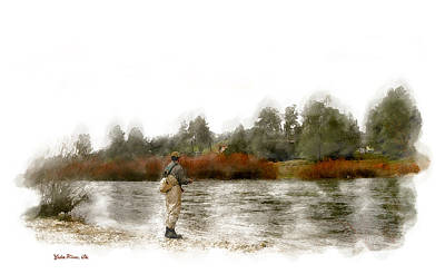 Photograph - Fly Fishing by Gary Rose