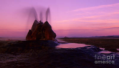 Burning Man Photograph - Fly Geyser Sunset 2 by Bob Christopher
