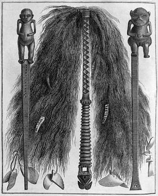 Swatting Fly Photograph - Fly Swats, Polynesian, 18th Century by Middle Temple Library