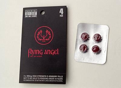 Flying Angel Photograph - 'flying Angel' Pills by Victor De Schwanberg