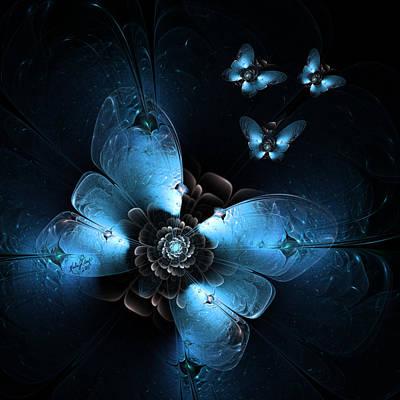 Digital Art - Flying At Night by Karla White