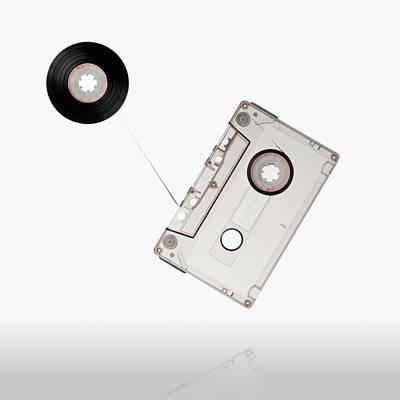 Cassette Photograph - Flying Audio Cassette by daitoZen