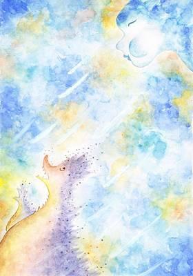 Flying Away Art Print by Asida Cheng