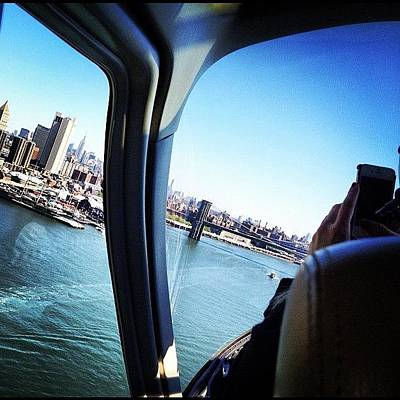 Helicopter Photograph - Flying By New York by Guillermo Vidal