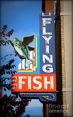 Photograph - Flying Fish by J Kinion