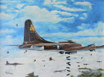 Painting - Flying Fortresses by Duwayne Williams