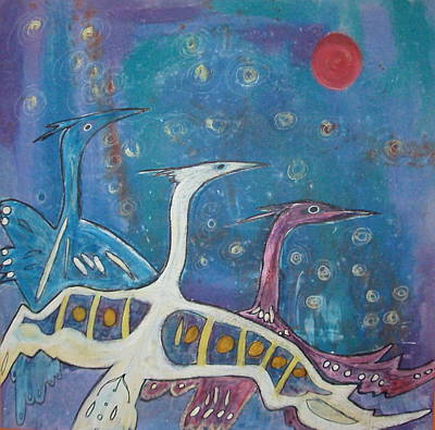 Flying High Together Art Print
