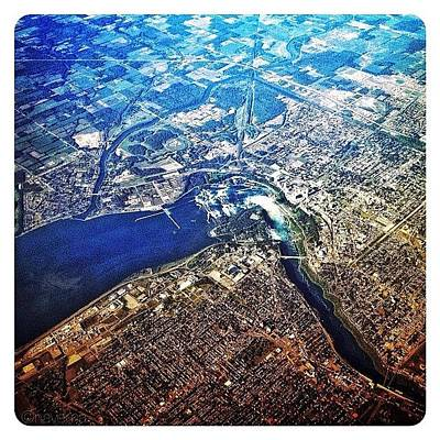 Airplane Photograph - Flying Over The Falls by Natasha Marco