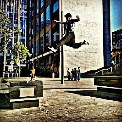 Extreme Sports Photograph - Flying #parkour #stride #freerunning by Taha Aitabi