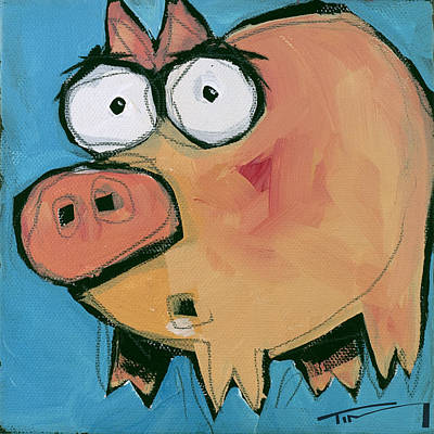 Painting - Flying Pig 1 by Tim Nyberg
