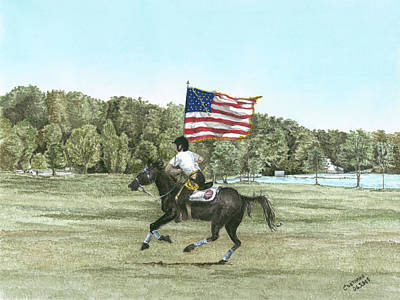 Flying The Colors At A Gallup Art Print